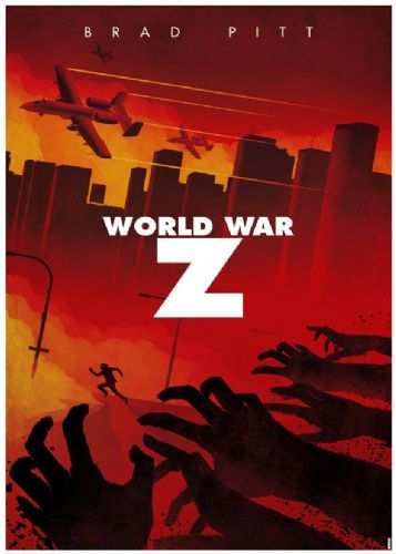 2010's Movie - WORLD WAR Z - MINIMALIST ART canvas print - self adhesive poster - photo print